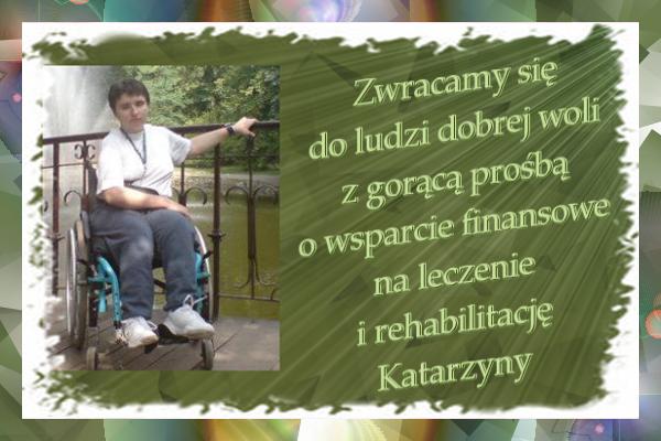 Pomóżmy Kasi wyjechać na turnusy rehabilitacyjne – pomagamy dbv pl