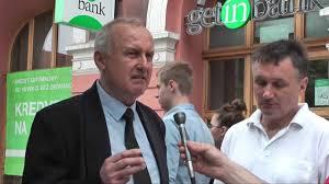 Protest Jana Jączka pod siedzibą Getin Noble Bank w Warszawie