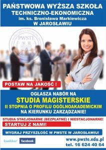 Studia magisterskie w Jarosławiu-plakat A2 wersja 1