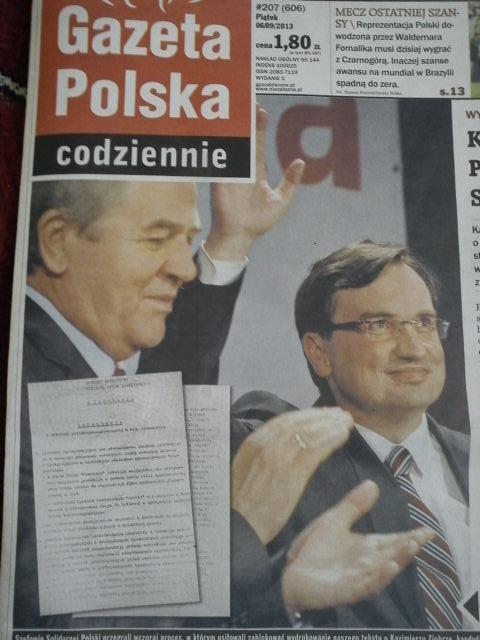 """""""Wielkie rewelacje"""" Gazety Polskiej Codziennie"""