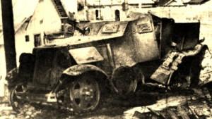 sowiecki sam. panc. zniszczony w Wołkowysku