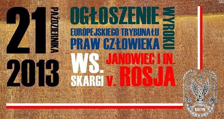 Rosja wygrała II rundę w Strasburgu w sprawie Katynia