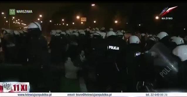Marsz Niepodległości 11.11.2013 — policja atakuje i bije ludzi