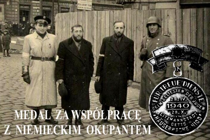 medal dla żydów za współpracę z niemcami