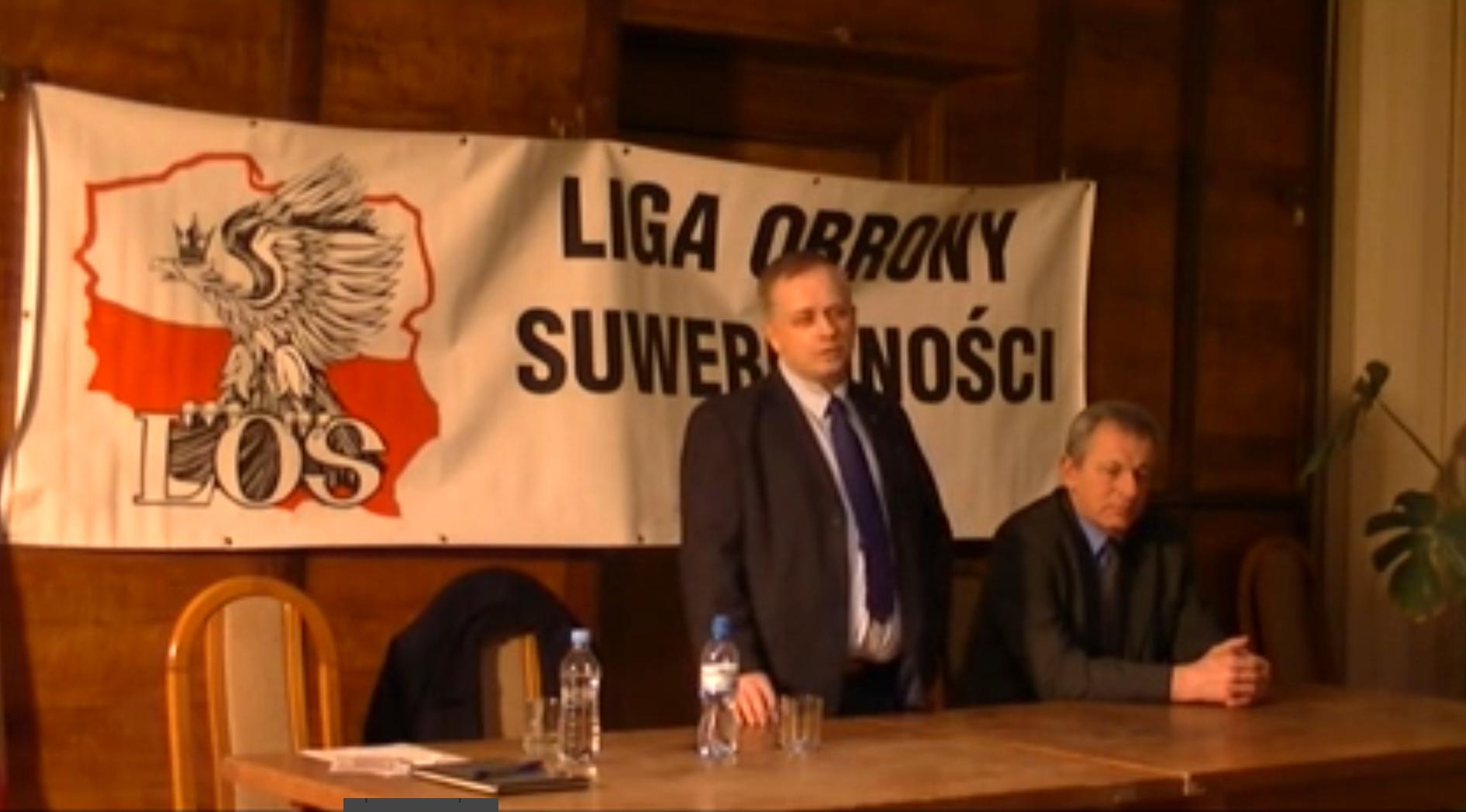 WOLNY CZYN: Wojciech Podjacki (Liga Obrony Suwerenności) w Katowicach
