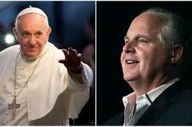 Rush Limbaugh nazwał nauki papieża marksizmem. Papież nazywa to chrześcijaństwem.