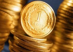 złotówki na słupku