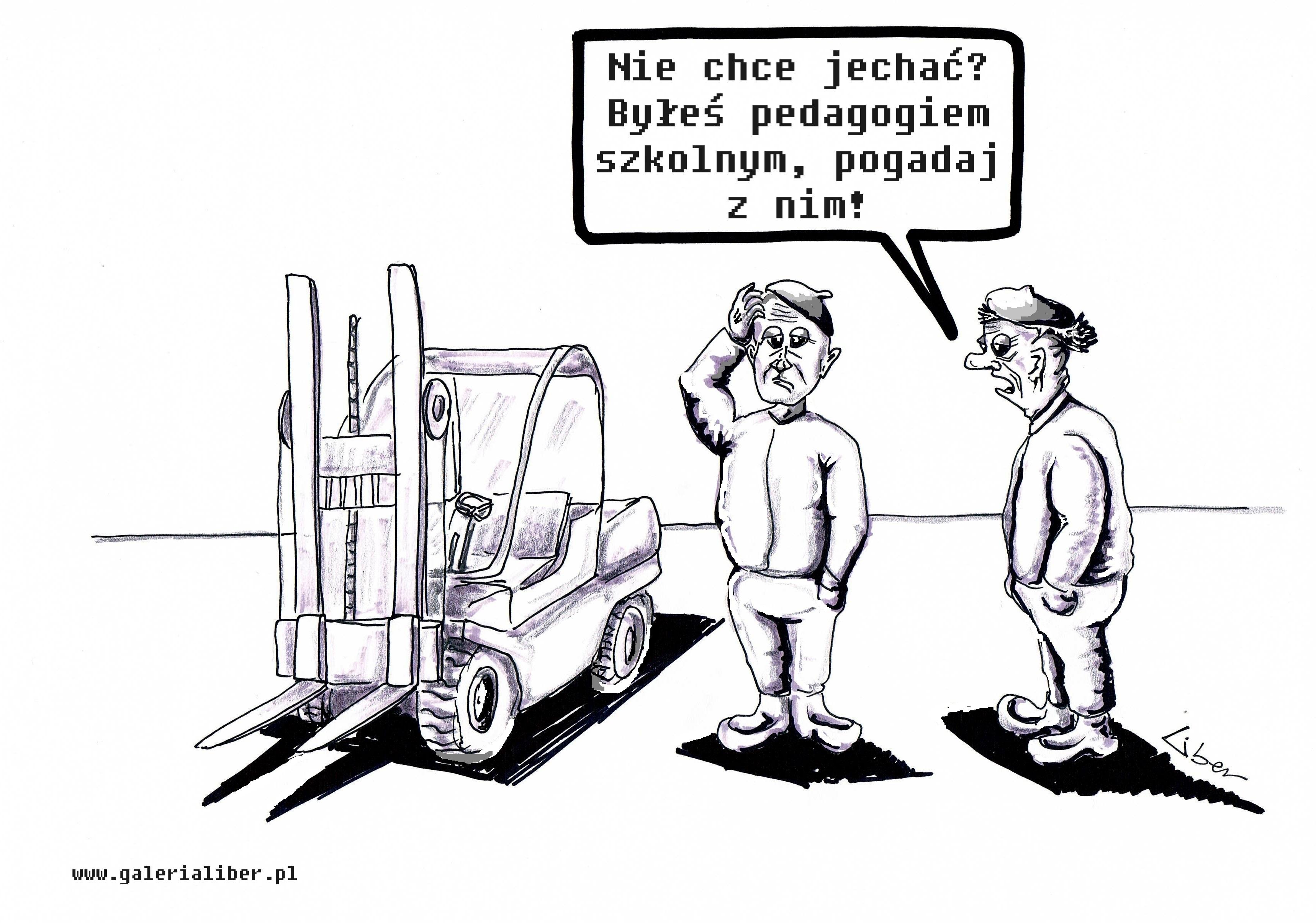 Kobiety na traktory, nauczyciele na wózki!