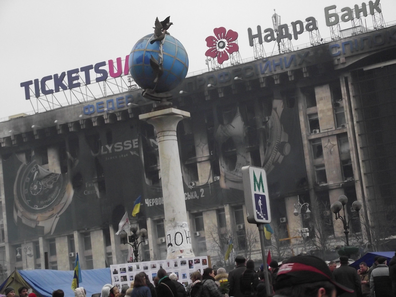 WOLNY CZYN: O wolną Ukrainę: Słomka i Podgórski na Majdanie