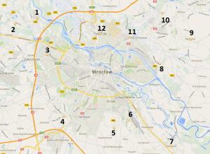 Mapa Wrocławia - MdM