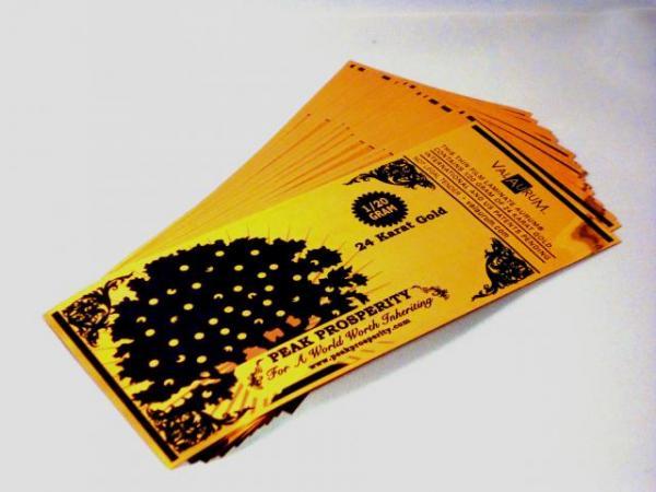 Złote banknoty