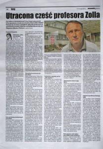 Utracona cześć profesora Zolla, Warszawska Gazeta Nr 19, 9-15.05.2014