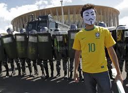 Brazylijczycy protestują przeciw Mistrzostwom FIFA