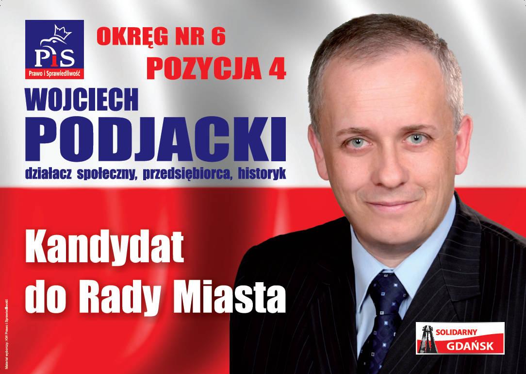 Wojciech Podjacki kandydatem LOS do Rady Miejskiej w Gdańsku