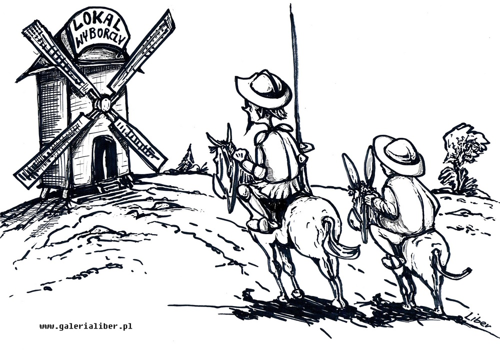 Don Kichot i Sancho Pansa na wyborach