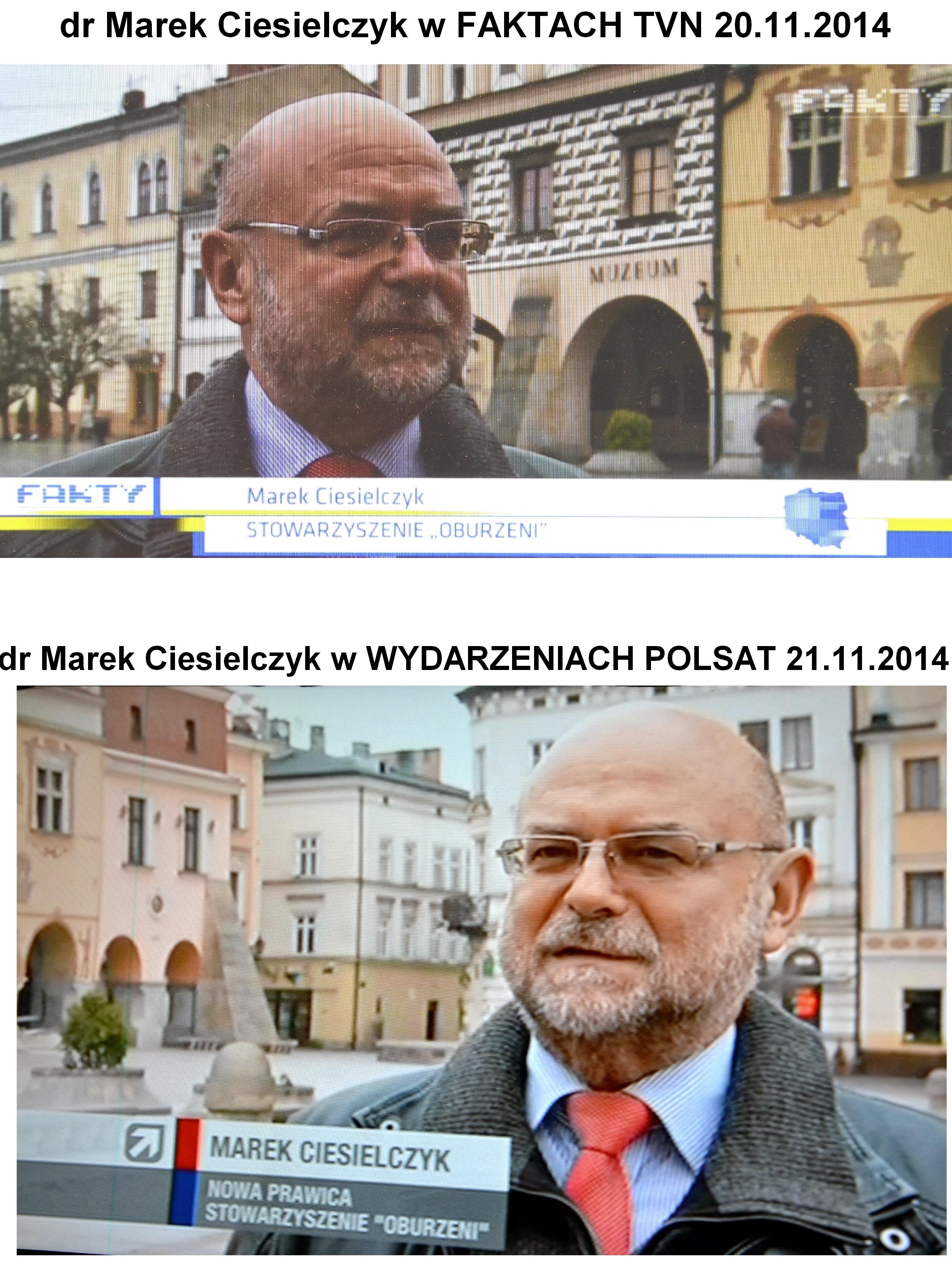 Marek Ciesielczyk w POLSAT i TVN mówi o pierwszym proteście wyborczym