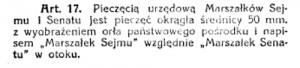 Tytuł pieczęcie art 17