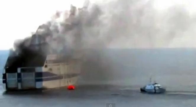 Na Morzu Jońskim płonie prom. 500 osób na pokładzie
