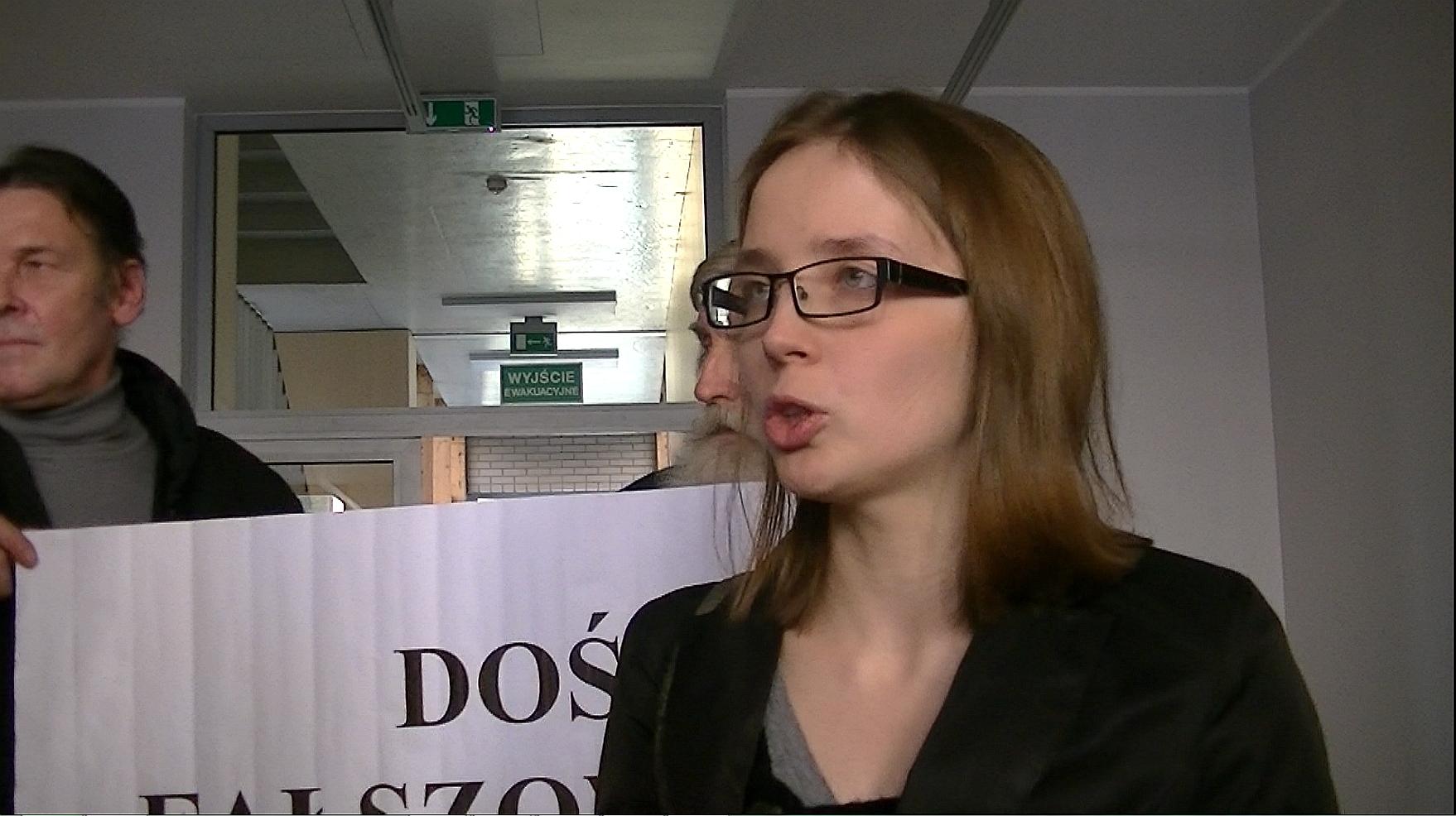 Protest wyborczy Doroty Stańczyk