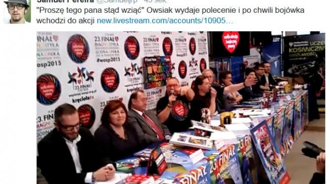 Pilne: Owsiak wyrzucił dziennikarza z konferencji prasowej WOŚP – VIDEO