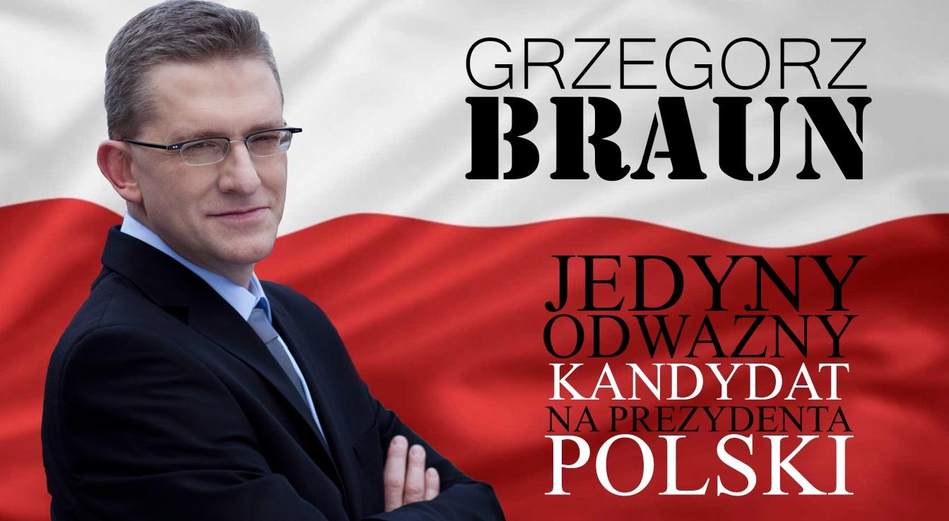 """Prezydent Grzegorz Braun """"odnowi oblicze ziemi. Tej ziemi!"""""""