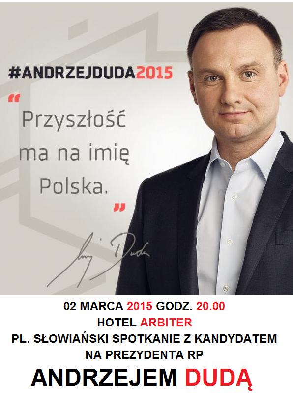 Spotkanie Andrzeja Dudy z mieszkańcami Elbląga