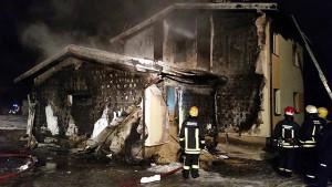 WILNO - spalony dom Polaków