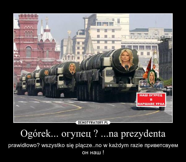 """Ogórek """"nasz""""człowiek w Warszawie"""