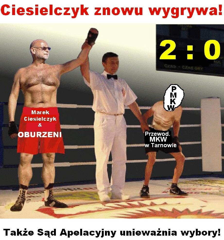 Oburzony Marek Ciesielczyk ponownie wygrywa