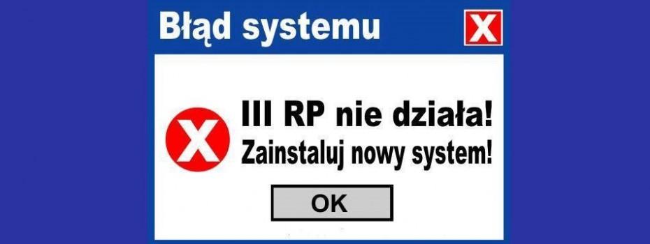błąd systemu