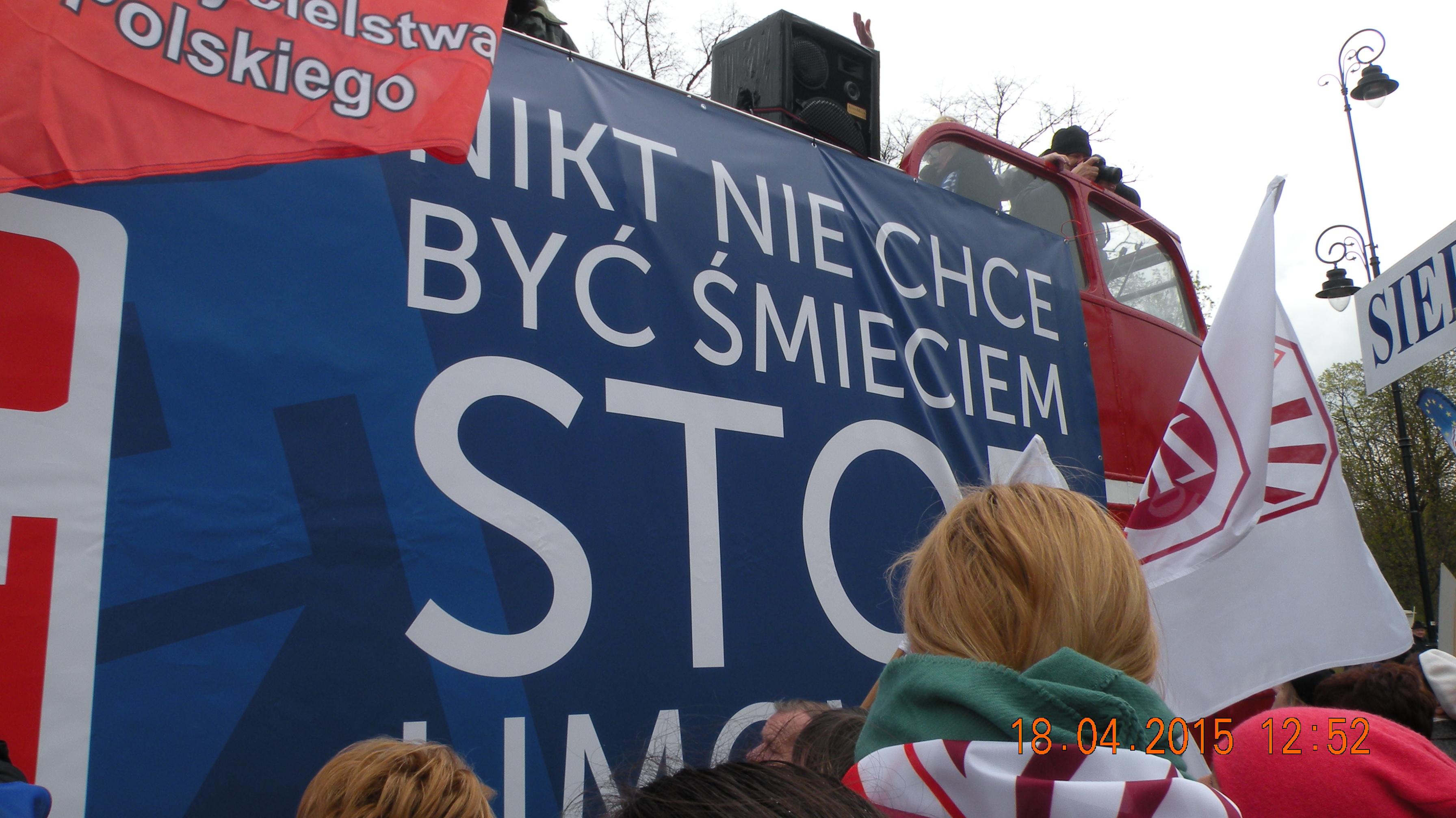18 kwietnia 2015 r. – protest w Warszawie