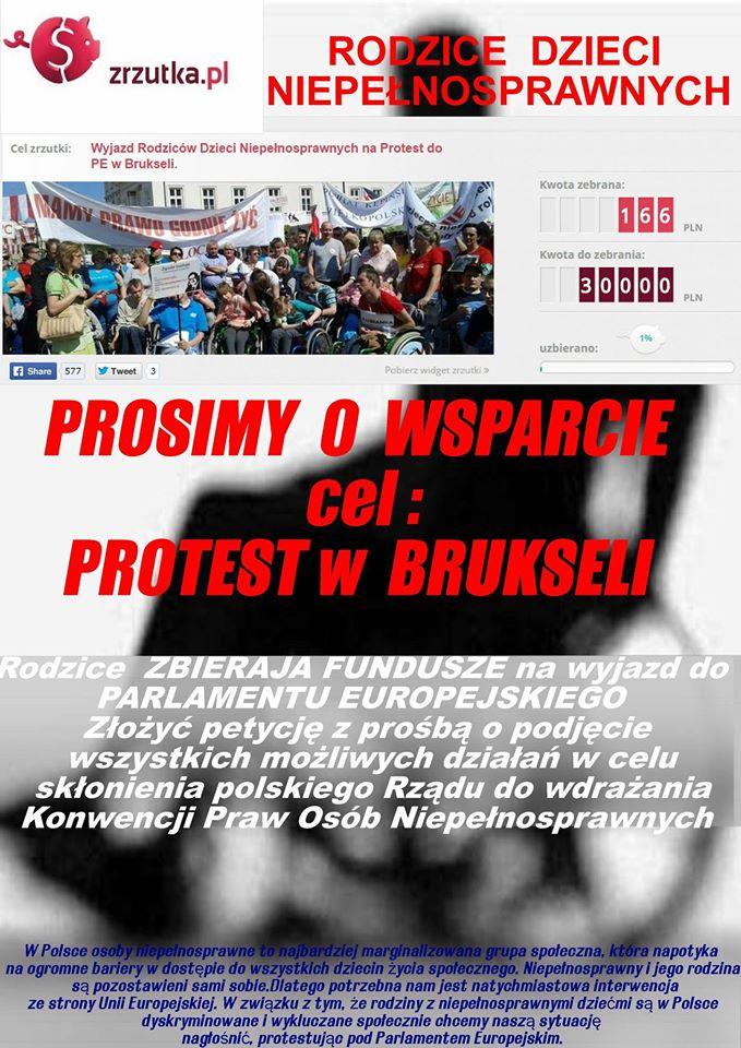 Chcą protestować w Brukseli i proszą o pomoc