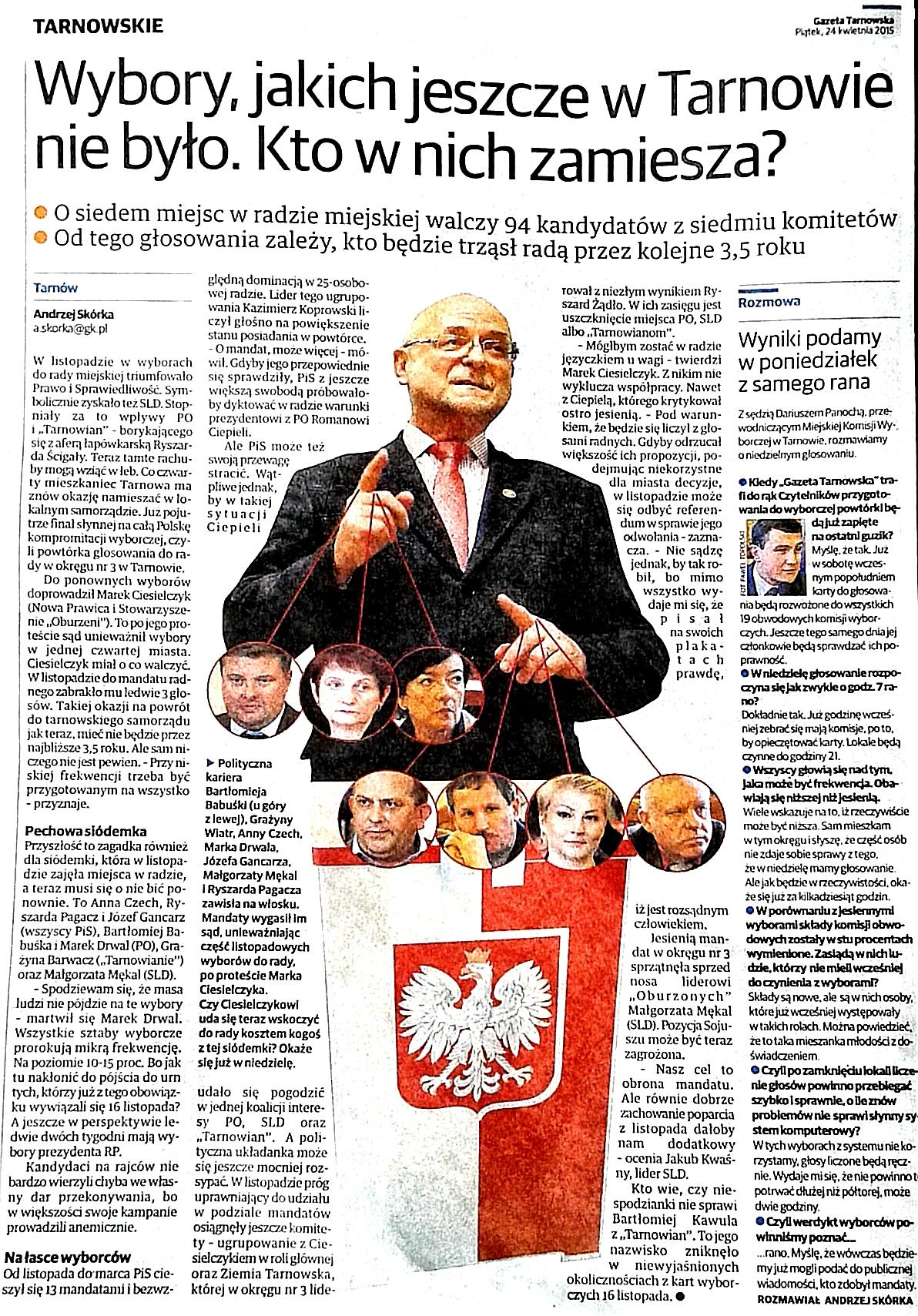 Marek Ciesielczyk – najpierw unieważnił, a następnie wygrał wybory…