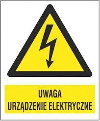 uwaga urządzenie elektryczne