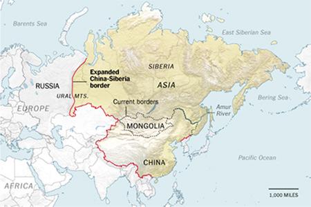 """WOLNY CZYN: Chiny-Rosja: Dlaczego Chiny chcą """"odzyskać"""" Syberię"""