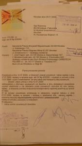 pismo skiby i woj. do sądu