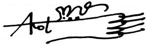 15. Autograf Andrzeja Kota