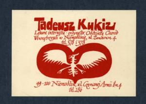 5. Andrzej Kot, ex-libris T. Kukiza