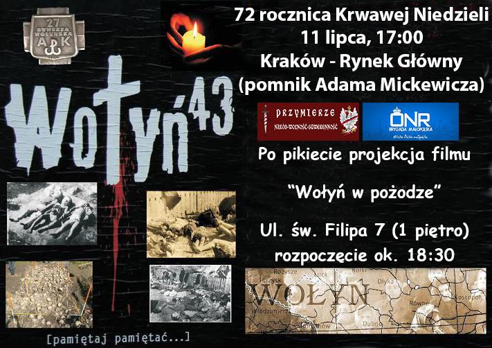 72 Rocznica Krwawej Niedzieli-Kraków