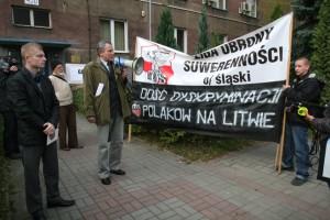 Fragment pikiety LOS w obronie Polaków na Litwie – Katowice, 19 X 2011 r.