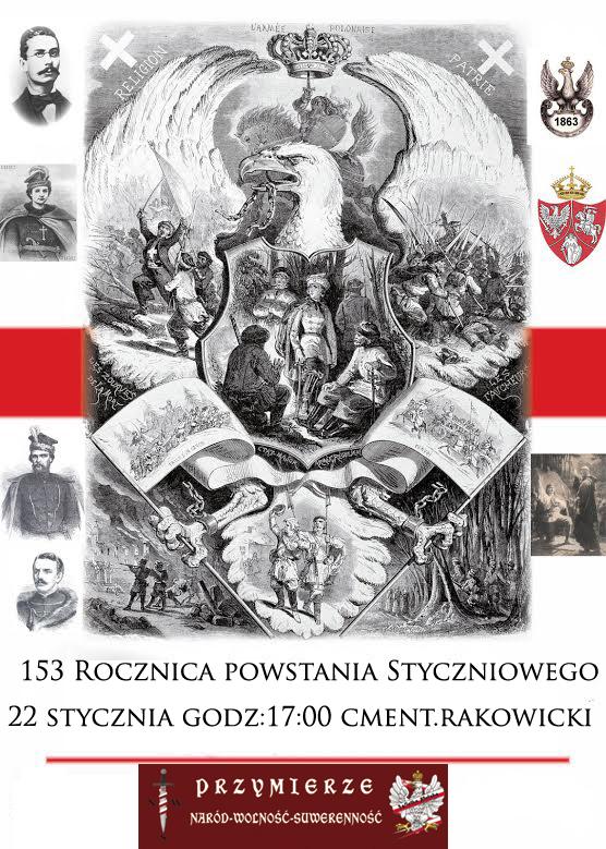 Kraków – 153 Rocznica wybuchu Powstania Styczniowego