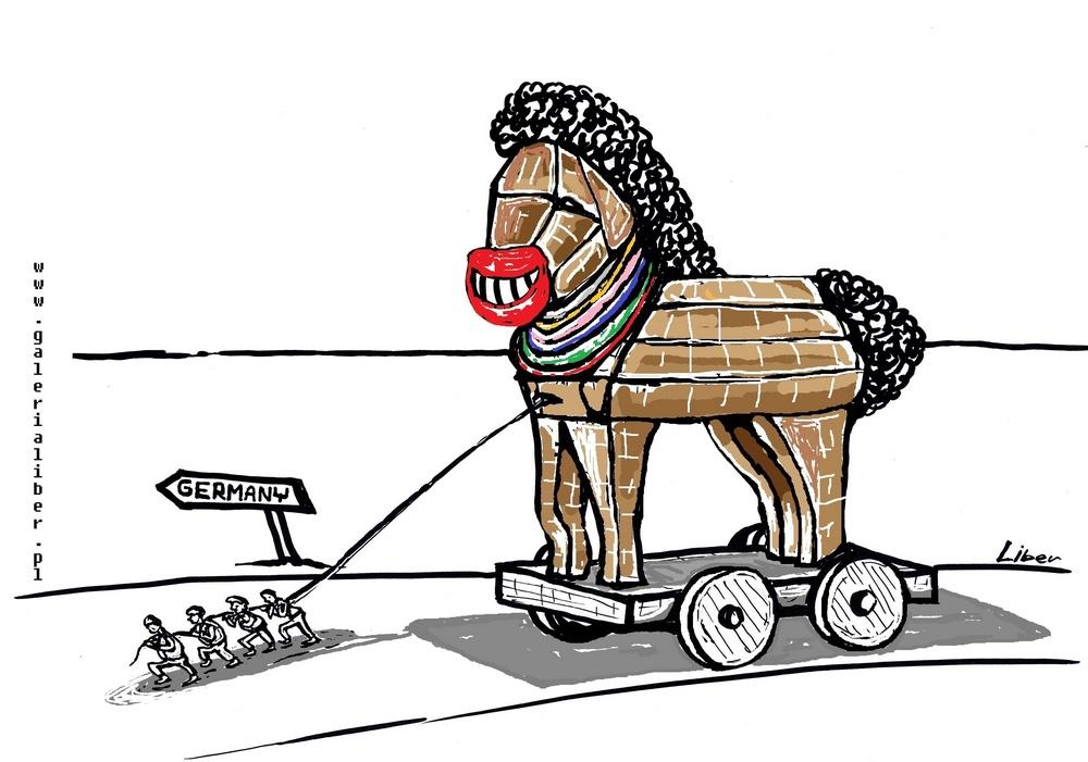 """Koń uchodźca w murach europejskiej """"demokracji"""""""