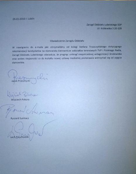Stanowisko SDP-Lublin na temat karuzeli stanowisk