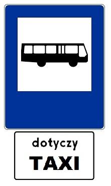 znak D - 15 + dotyczy taxi