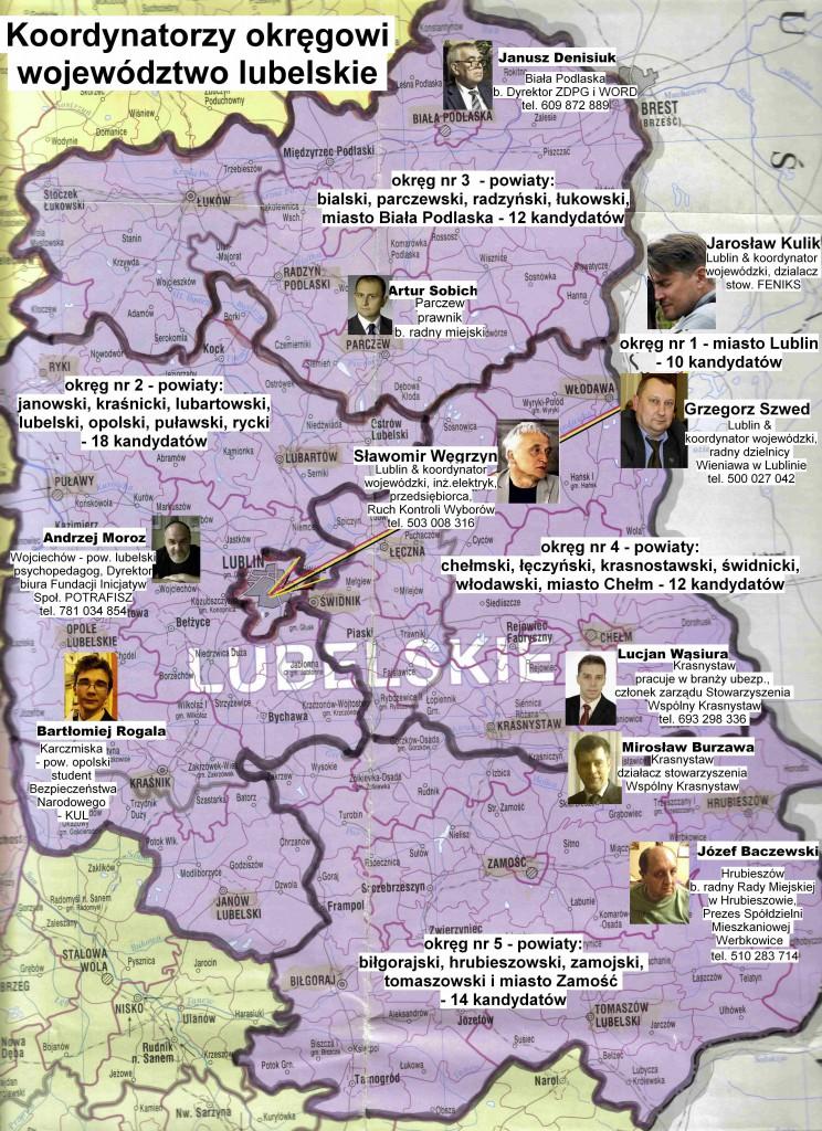 kom. Koordynatorzy okręgowi- woj.lubelskie