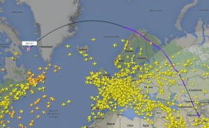 loty nad Europą