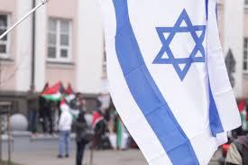 Antypolska manifestacja Żydów pod Konsulatem RP