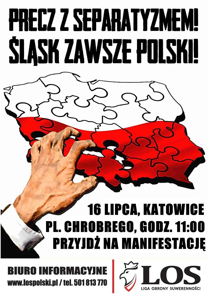 Manifestacja w obronie polskości Śląska