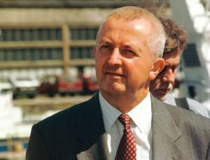 Adam Hodysz , szef gdanskiego UOP-u 08.96 Fot. Maciej Kosycarz / KFP
