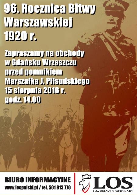 96. Rocznica Bitwy Warszawskiej 1920 r.